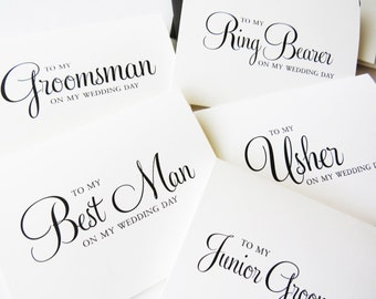 To my Best Man card, Best Man gift Ideas, Best man Gift from Groom, Groomsmen card, Groomsmen gift idea, gift for Usher, (Set of 8) WFS02