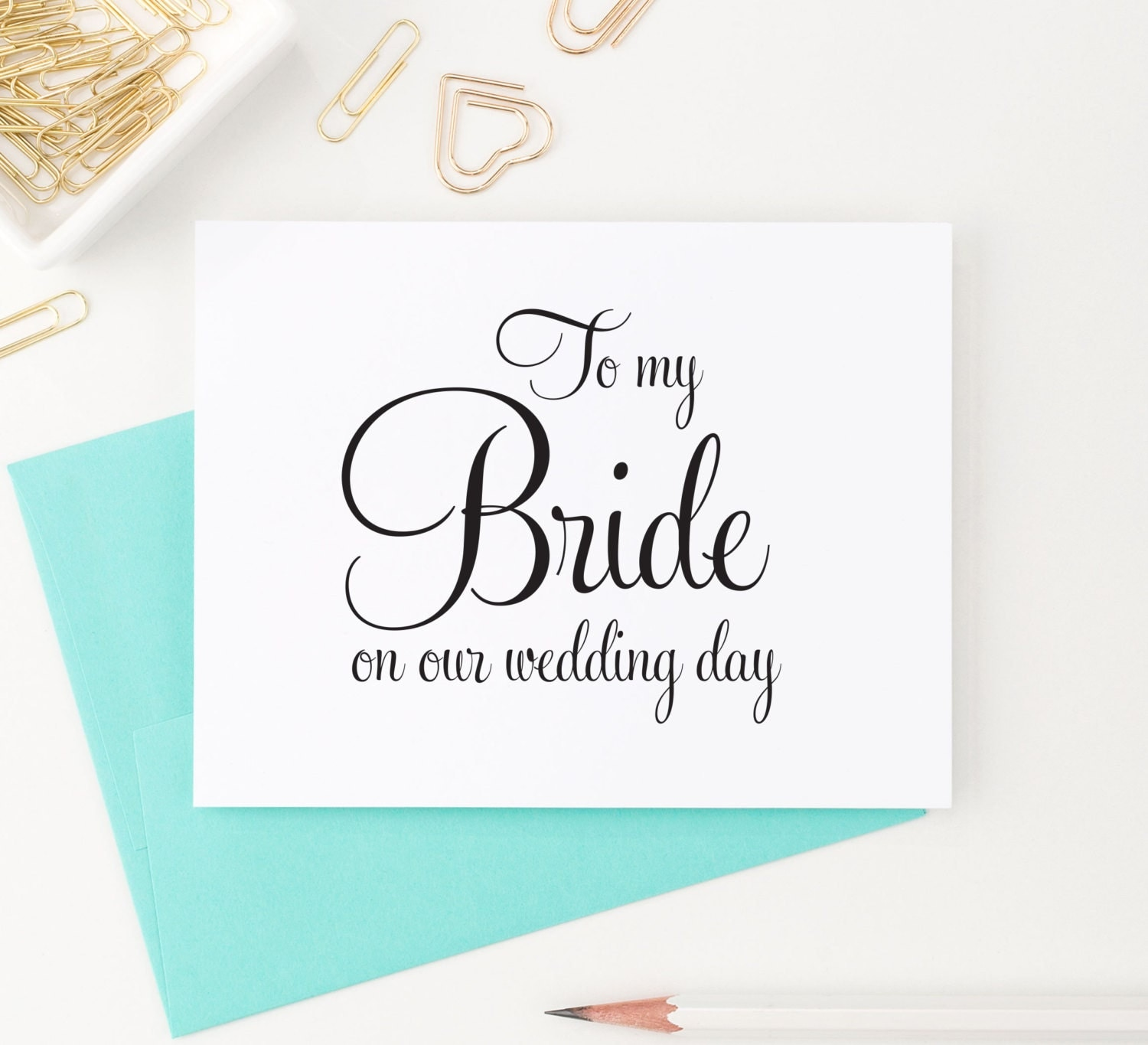 To my Bride on our wedding day Card To my Bride Card Wedding
