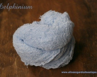 Delphinium Blue Cheesecloth Baby Wrap