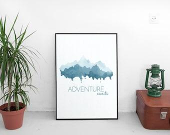Adventure Printable Poster