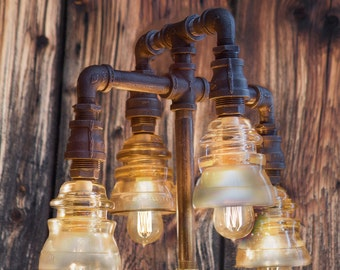 Pipe Lamp-Industrial StyleLight-Table Lamp-Edison Bulb-Steampunk