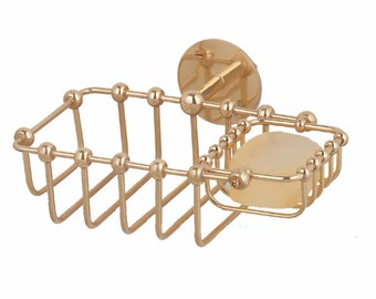 Items Similar To Large Antique Brass Soap And Cup Holder