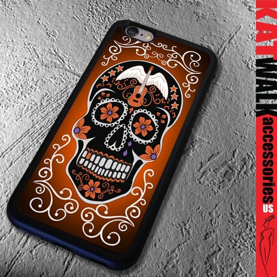 Apple iPhone 6/6S Rubber Case. Day of the Dead iPhone 5S Case. Sugar Skull Phone case. Dia								<a href=