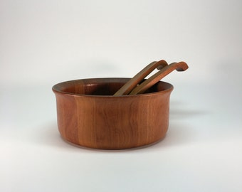 Nissen Danmark teak salad bowl & servers