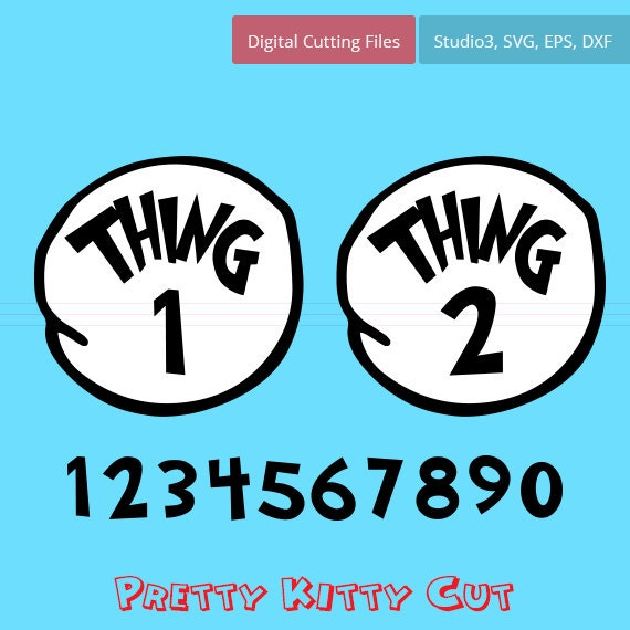 Thing 1 And Thing 2 Instant Download Cut File Svg Studio3