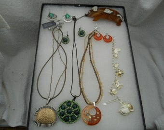 Vintage Jewelry Lot Necklaces Bracelets And More #424