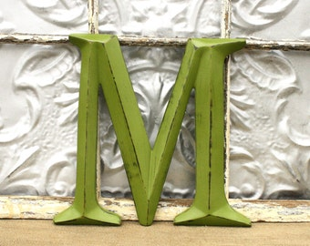 Letter M/ Capital M/ Wall Decor/ Wedding Photo Prop/ Wall Letter M/ Wedding Sign/ Custom Painted Family Initials/ Nursery Wall Decor