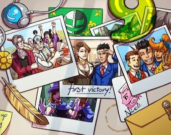 Ace Attorney Photo Memories Art Print