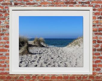 Beach & peace 3, photo painting, 45 x 30 cm