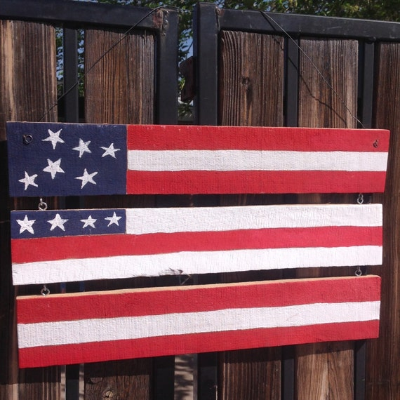 Items similar to american flag pallet home decor 4th of for Patriotic home decorations