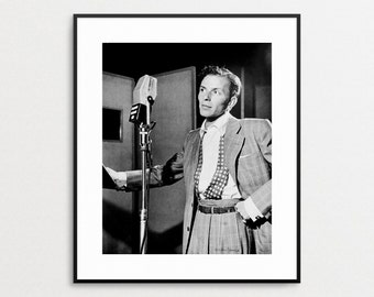 Frank Sinatra Photo - Black and White Vintage Photography - 1940s - Celebrity Portrait - Jazz - Musician - Singer - Wall Art - Famous