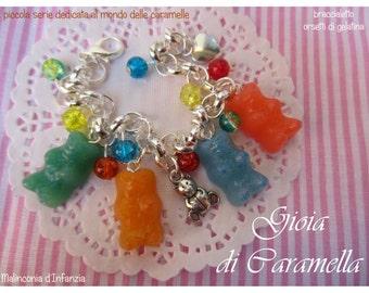 """Fimo bracelet """"sweet Gummy""""-Malinconiadinfanzia-Handmade"""