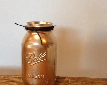 Mason Jar Vase 32oz Matt Black