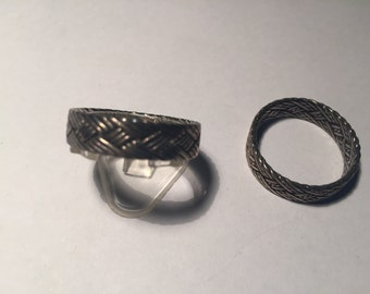 Platted silver bands new old stock,size V both for 25 dollars