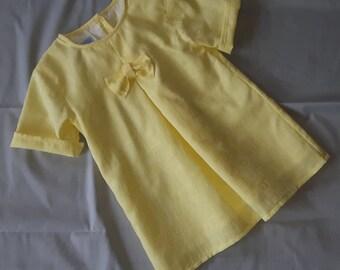 Yellow summer baby dress
