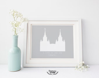 Custom LDS San Diego Temple Printable, I love to See the Temple, Digital Download