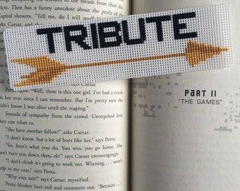Cross Stitch Hunger Games Inspired Tribute Bookmark