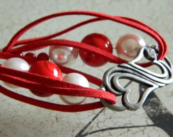 Hearts and Beads bracelet