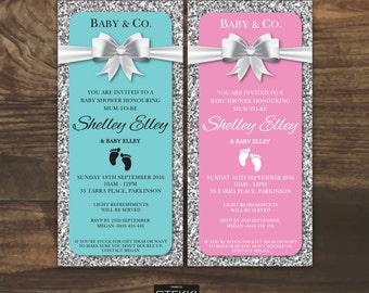 Tiffany Baby Shower Invitation Etsy