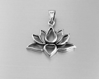 Sterling Silver Lotus Pendant