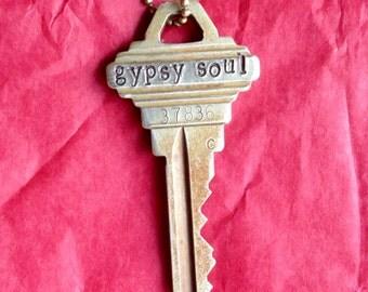 Gypsy Soul Key Necklace