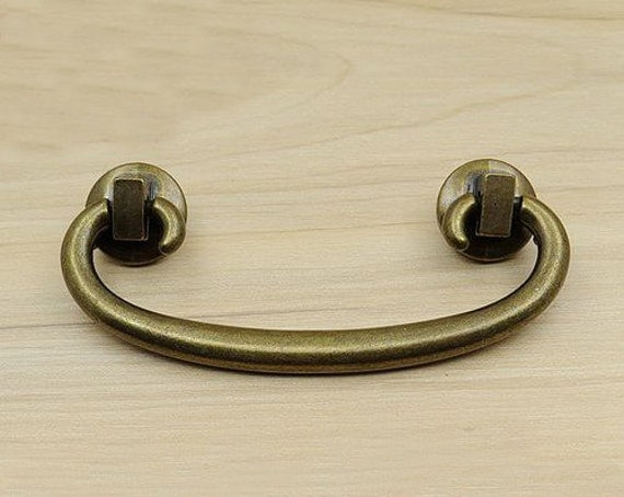 Vintage chinese style drop dresser drawer pull handle for Asian furniture hardware drawer pulls