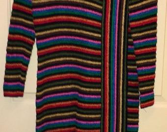 Vtg NWT 70's/80's Serbin Multi-color Dress Sz 12