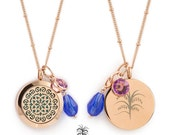 Essential Oils Diffuser Locket Necklace Round Rose Gold Moroccan (25mm) Aromatherapy