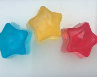 Mini Star Soaps, Soap for Kids or Party Favors, Handmade Soap for Kids to Make Bathtime Fun, Kids Soap