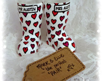 The Perfect Pair -Welly boot shot glasses