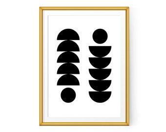 Nordic art Scandinavian design Printable poster Minimalist 8x10 11x14