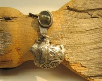 Fold formed  labradorite pendant.