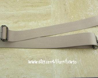 """53"""" Cream Nylon Webbing Strap for Purse Bag 1.5"""" wide"""