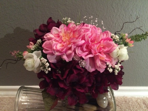 premade wedding bouquets pre made silk wedding bouquet by karensweddingkrafts on etsy 6755