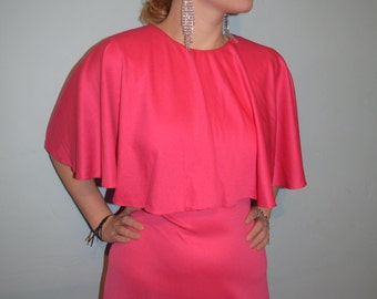 vintage 70s fabulous pink maxi dress hipster