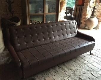 Sofa bed Brown 50 years was original in sky/Zanuso 60