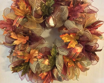 Fall Wreath-Autumn Wreath-Turkey Wreath-Thanksgiving Wreath