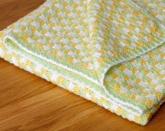 Baby blanket in spring colours