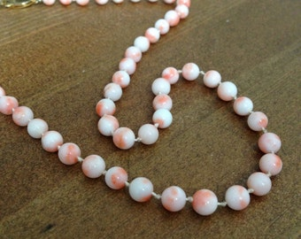 Angel's Skin Coral Necklace
