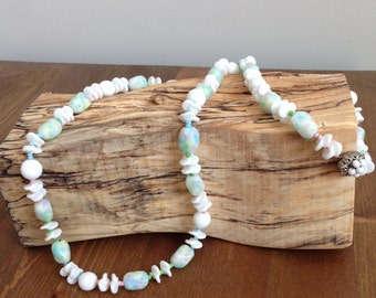 SALE - Vintage Miriam Haskell Necklace with Pastel Colors
