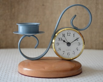 Candle holder\clock
