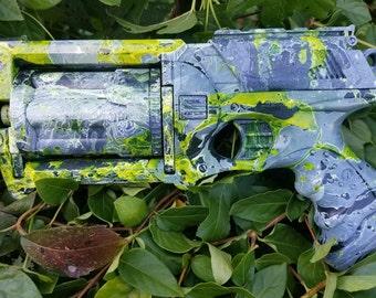 NERF Maverick Rev-6 Nstrike Custom UV Black Light Glow Cosplay Gun
