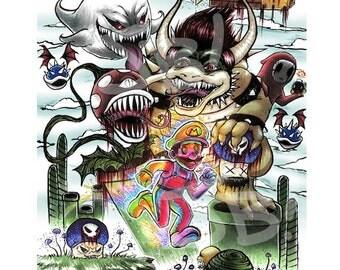 Mario Brothers Nightmare Print