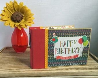 Premade Scrapbook Album, Birthday Mini Album, Birthday Scrapbook, Mini Album, Mini Scrapbook, Premade Scrapbook, Premade Birthday Album