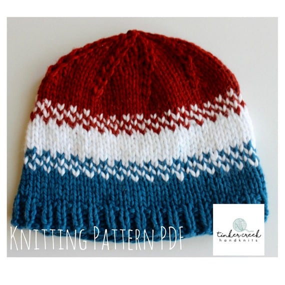 Baby Hat Knit Patterns/Olympics Baby Hat Pattern/Knitting Pattern PDF/ Instan...