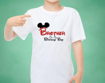 Disney Brother of the Birthday Boy  Mickey Ears INSTANT Download Printable Iron on Transfer Design Disney Birthday Family Shirts Iron on