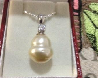 Creamy golden south sea Pearl pendant