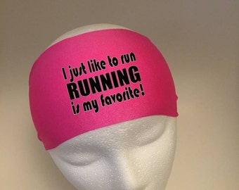 Running Headband ~Yoga Headband~ Workout Headband- Running is my favorite