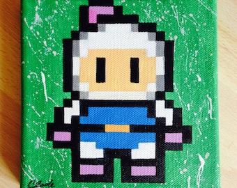 Bomberman Dyna Blaster Canvas Acrylic Hand Painted
