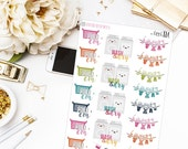 Laundry in Color - Planner stickers, Icon Stickers, To Do Stickers, Chore Stickers, Laundry Stickers, Colorful Stickers, BuJo Stickers